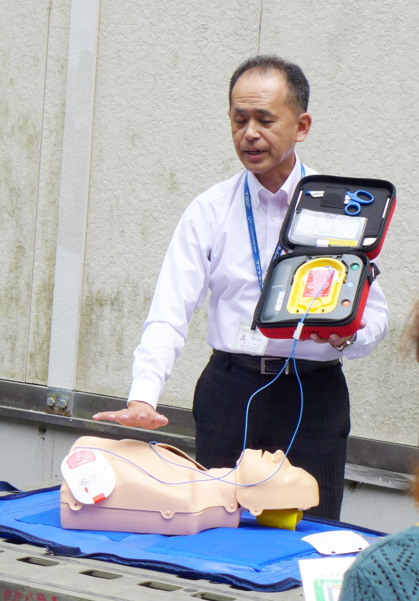 別院地区にて合同AED講習会を実施